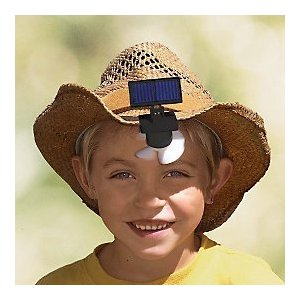 Gaiam Solar Hat Fan (2-Pack) An Outdoor Summer Essential! (Makes A Great Gift)