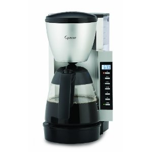 Capresso CM200 10-Cup Programmable Coffeemaker with Glass Carafe