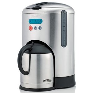 DeLonghi  DCM485 10-Cup Thermal Carafe and Coffeemaker, Brushed Stainless Steel