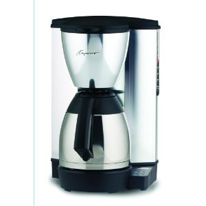 Capresso 441.05 MT-500 Plus 10-cup Coffeemaker with Metallic Alloy Body and Stainless Thermal Carafe