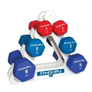 Cap Barbell Neoprene Dumbbell Set with Rack