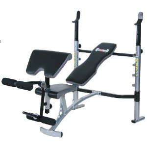 Body Champ BCB807 Mid-Width Weight Bench with Arm Curl