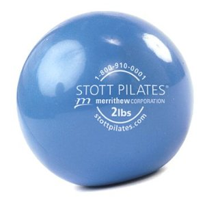 Stott Pilates Toning Ball (Blue, 10 cm, 2 Pounds)