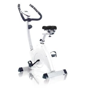 Omega CO-BD7 Triangular Magnetic Upright Indoor Exercise Bike (White)