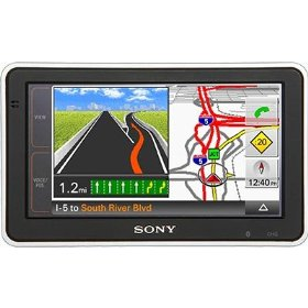 Sony NVU83T 4.8'' Widescreen Bluetooth Portable GPS Navigator with Nylon Carrying Case
