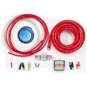 StreetWires Power Station PSK04RM 4-gauge multi-amp wiring kit -- red power/silver ground