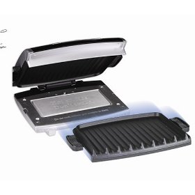 George foreman grp99 silver grill led 96inch surface nonstick