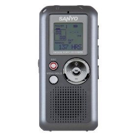 Sanyo icrfp550e voice recorder digita l280hours mp3 rechargeb