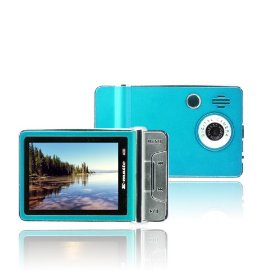 Ematic 2.4 Inches Color MP3 Video Player withBuilt-in 5MP Digital Camera and Video Recording, FM Radio, TV Out, Speaker 4 GB BLUE