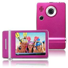 Ematic 3.0 Inches Touch Screen Color MP3 Video Player With Built-in 5MP Digital Camera with Video Recording, FM Radio & Speaker 8 GB PINK