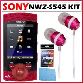 Sony Walkman� NWZ-S545 16GB S Series Walkman Video and MP3 Player + Accessory Kit