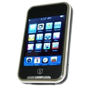 Visual Land V-Touch 4 GB MP3/MP4/Camera 2.8-Inch Touchscreen/Mini SD Portable Media Player (Black)
