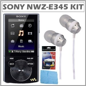 Sony Walkman� NWZ-E345 16GB Video MP3 Player in Black + Accessory Kit