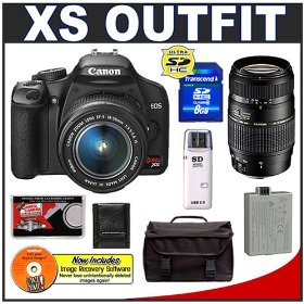 Canon Digital Rebel XS 10.1MP Digital SLR Camera Kit (Black)
