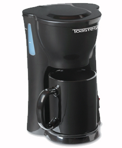 Toastess tfc326 black coffee maker 1cup with mug