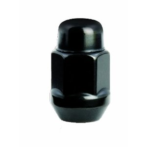 Gorilla Automotive 91187BCB Acorn Bulge Black Chrome Lug Nuts (1/2