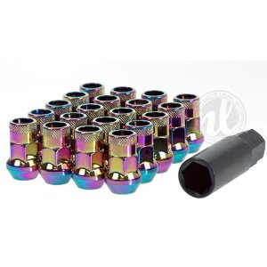Muteki SR35 Neo Chrome Open End Lug Nuts 12x1.25