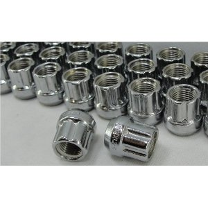 Open End Tuner Style Spline Lug Nuts, 7 Point Set of 16 Lugs For Most Nissan Models