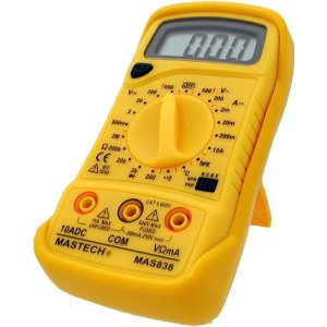 Mastech 19-Range Digital Multimeter with Temperature Measurement, MAS838