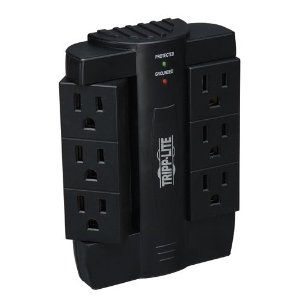 Tripp Lite SWIVEL6 6-Swivel-Outlet Surge Protector (1200 Joules, Direct Plug-In)