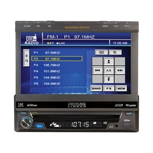 Phase Linear UV9 MultiMedia Receiver with 7-Inch Touch Screen (Black)