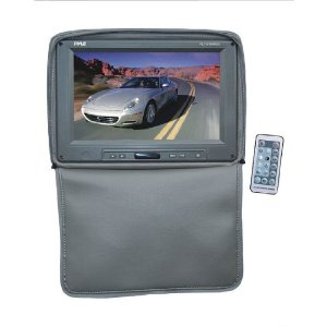 PYLE PL1101HRGR Adjustable Headrests w/ Built-In 11'' TFT/LCD Monitor W/IR Transmitter & Cover (Gray)