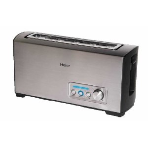 Haier TST120SS Stainless-Steel Long-Slot 2-Slice Digital Toaster