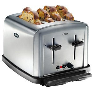 Oster 6334 4-Slice Toaster, Stainless Steel
