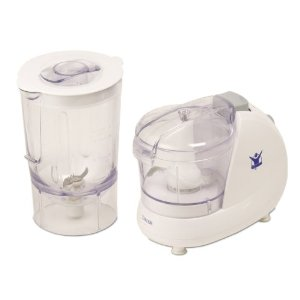 Biggest Loser AC-1200-BL 2-in-1 Double-Up 2-Speed Chopper and Mini Blender Prep System