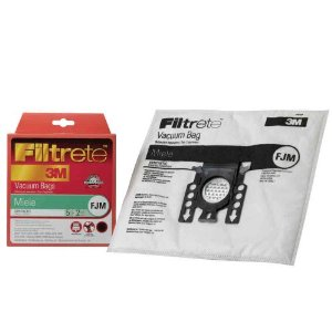 Filtrete Miele FJM Synthetic Bags and Filters, 5 Bags and 2 Filters Per Pack