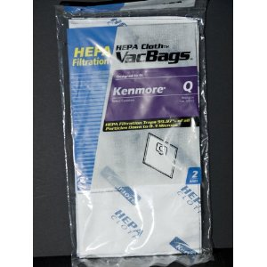 Ultracare Kenmore Q Canister Hepa Cloth Bags 2 pk