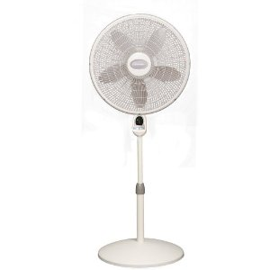 Lasko 1854 18-inch Oscillating Pedestal Fan with Remote Control