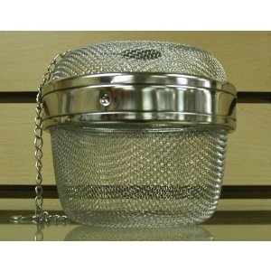 Stainless Steel Locking Spice Mesh Ball, Tea Strainer, Tea Infuser, Giant Size 4 Inch Diameter