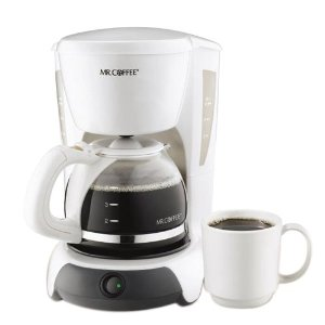 Mr. Coffee VB4 4-Cup Coffeemaker, White