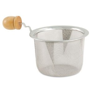 Tea Strainer Stainless Steel with Wooden Handle