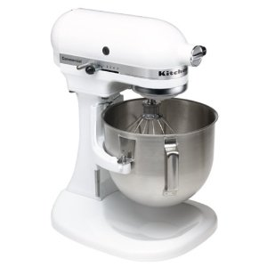KitchenAid K5SSWH Commercial 5-Quart Mixer, White