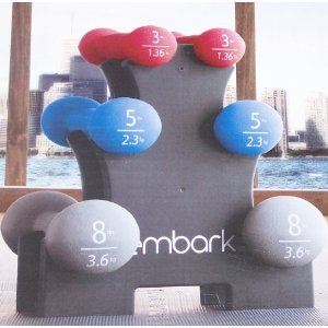 Embark Hand Weight Set 32lbs with Weight Rack
