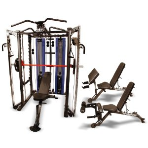 Inspire Complete System Includes Power Rack, Smith Machine, Weight Stacks and Pulleys, FID Bench, Leg Ext and Preacher Curl