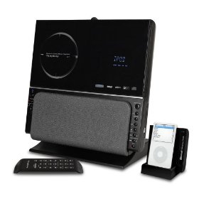 ISymphony V1BLUE Bluetooth Stereo System with Wireless Universal Dock for iPod (Black)