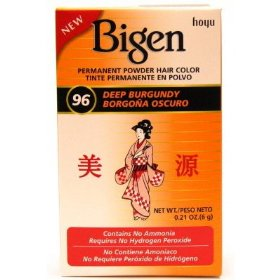 Bigen Powder Hair Color #96 Deep Burgundy