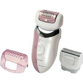 Panasonic Wet/Dry Epiglide 3-in-1 Epilator Hair Removal System with Skin Protector