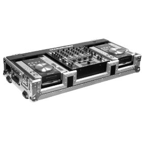 Holds 2 X Small Format Cd Players: Gemini, Pioneer, Denon Players + 12-inch Mixer: Pioneer, Gemini, Denon, Allen & Heath Xone, American Audio W/ Wheels