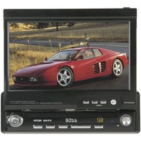 Boss Audio BV9960 In-Dash DVD/MP3/CD Receiver with Motorized Flip-Out 7-Inch TouchScreen Monitor