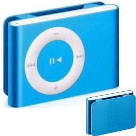 2.0GB BLUE Generic Brand Clip-On MP3 Player