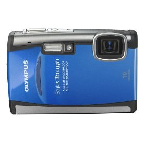 Olympus Stylus Tough-6000 10 MP Waterproof Digital Camera with 3.6x Wide Angle Optical Dual Image Stabilized Zoom and 2.7-Inch LCD (Blue)
