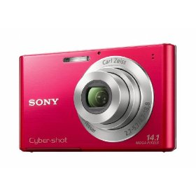 Sony DSC-W330 14.1MP Digital Camera with 4x Wide Angle Zoom with Digital Steady Shot Image Stabilization and 3.0 inch LCD (Red)