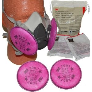 3M 7182 P100 SAFETY RESPIRATOR MASK with 10 Filter Sets