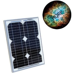 HQRP 12W (Size of 10 Watt / 10W) Mono-crystalline Solar Panel 12 Watt 12 Volt in Anodized Aluminum Frame plus HQRP Mousepad