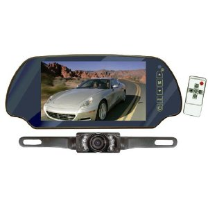 PYLE PLCM7200 7-Inch TFT Mirror Monitor with Rear-View Night Vision Camera