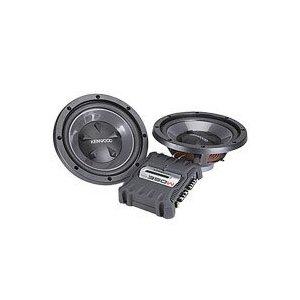 Kenwood P-W1200 12-Inch 350 Watt Max Power Bass Party Pack with KAC-5204 and KFC-W110S 2 Pieces